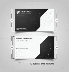 Abstract black and white technology name card vector