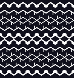 Abstract geometric shapes black background vector