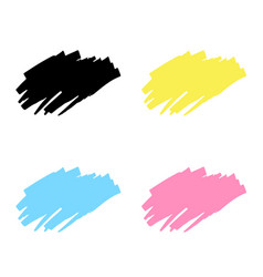 Abstract hand drawn painted black paint ink brush vector