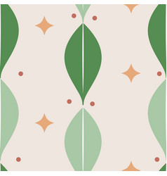 abstract natural seamless leaves pattern vector image