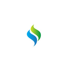 abstract wave ecology design logo vector image