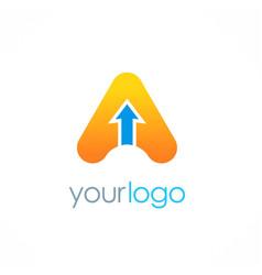 arrow letter a logo vector image
