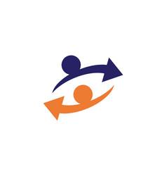 Arrows icon logo template design vector