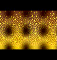 banner gold sequins glitters sparkle or paillette vector image