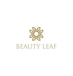 beauty leaf pattern hotel and spa symbol design vector image