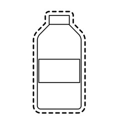 Blank label bottle icon image vector