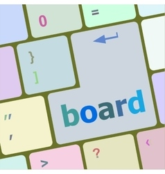 board button on computer pc keyboard key vector image
