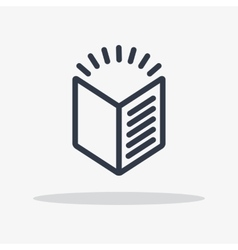 book icon isolated vector image