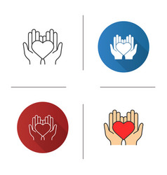 charity icon vector image