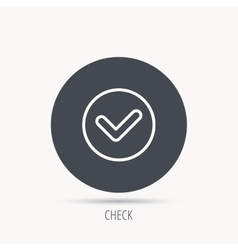 Check confirm icon Tick in circle sign vector