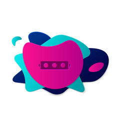 Color silicone ball gag with a leather belt icon vector