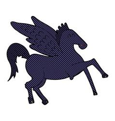 Comic cartoon magic flying horse vector