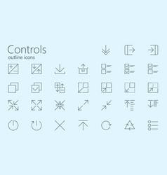 Computer techologies outline controls vector
