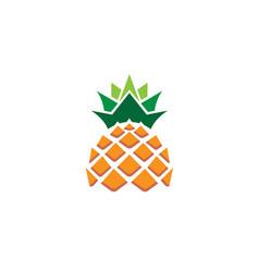 creative geometric pineapple fruit logo vector image