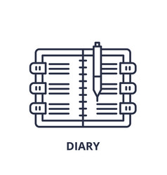 diary line icon concept diary linear vector image
