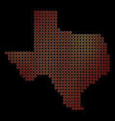 dotted orange texas map vector image