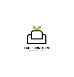 Eco furniture logo design vector