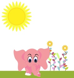 elephant summer vector image