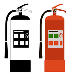 extinguisher set flat vector image