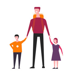 family consisting father and children male vector image