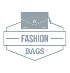 Fashion handbag logo simple gray style vector