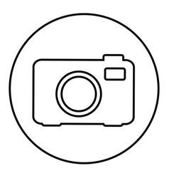 figure emblem sticker camera icon vector image