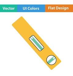 Flat design icon of construction level vector