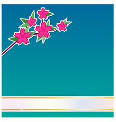 Flower with ribbon background vector