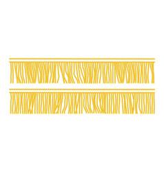 gold fringe seamless vector image