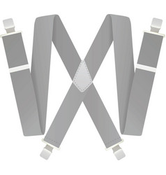 Grey suspenders vector