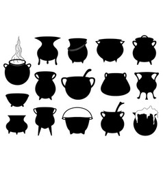 Halloween witches pots vector