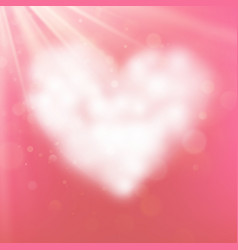 heart shaped cloud in the pink sky eps 10 vector image