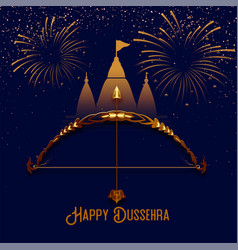 Hindu festival od dussehra background with vector