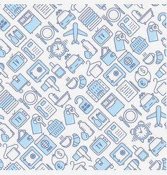 hotel services seamless pattern vector image