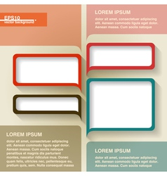 Infographics geometrical abstract background vector