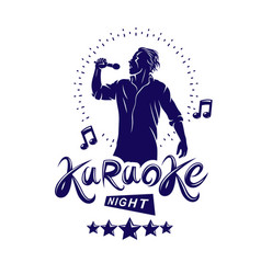 Karaoke night and nightclub discotheque vector