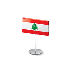 Lebanese flag on a white vector