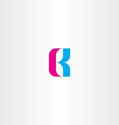 Letter b cyan magenta logo icon vector