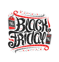 lettering for black friday vector image