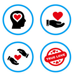 Love offer rounded icons vector