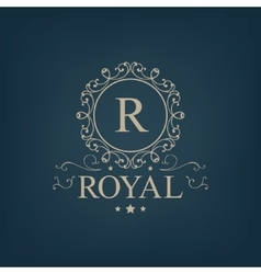 Luxury royal monogram logo icon isolated vector