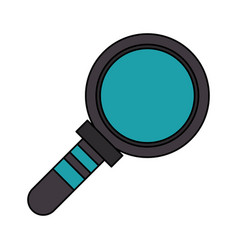 magnifying glass lab len cartoon vector image