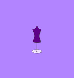 Mannequin on white background vector