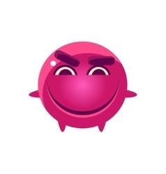 Mischievous Round Character Emoji vector image