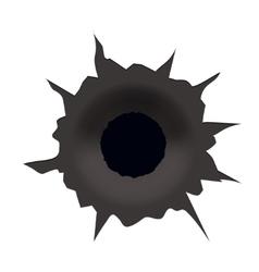 modern bullet hole on white background vector image