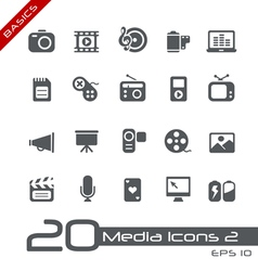 Multimedia Basics Series vector