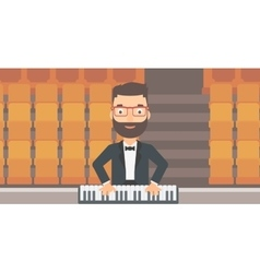 Musician playing piano vector image vector image