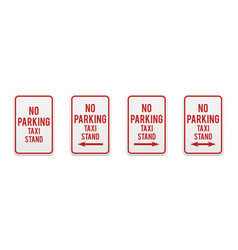 no parking taxi stand vector image