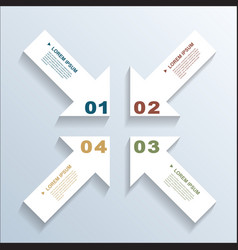 paper arrows infographic 3 vector image