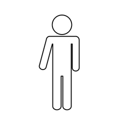 Pictogram concept Person icon flat and isolated vector image
